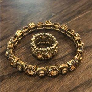 Free People Gold Bracelet Ring Set!